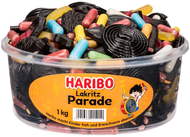 Haribo Licorice Parade Tub