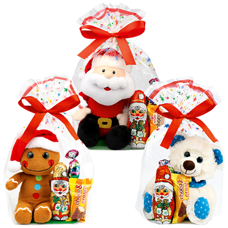 HOliday Plushie with Chocolate