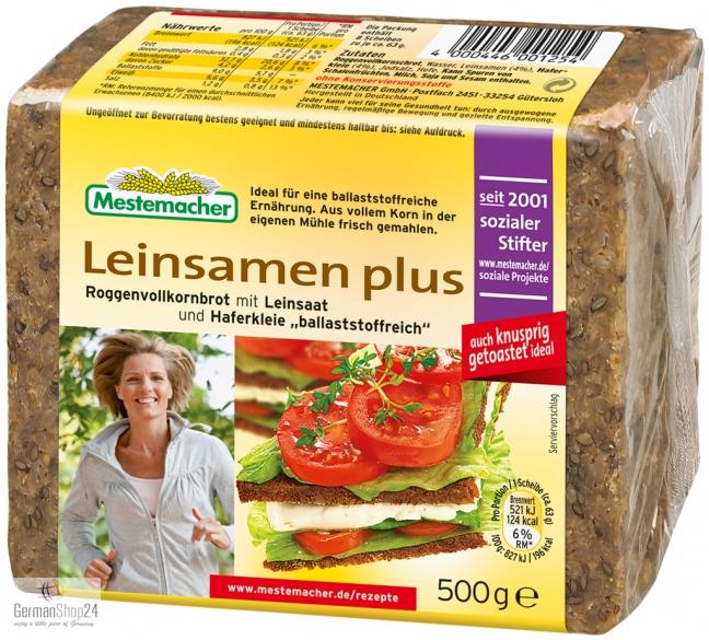 Mestemacher Flax Seed Plus 17 6 Oz