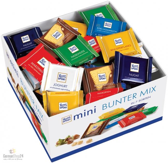Ritter Sport Mini Chocolate Mix 84 Pieces Counter Display