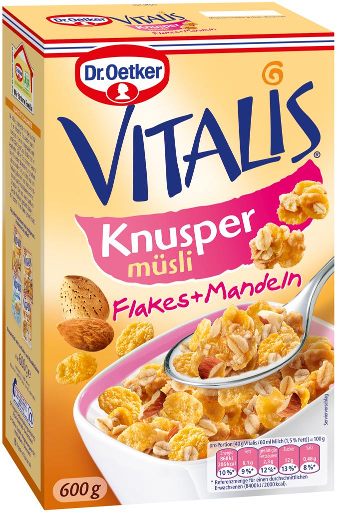 Vitalis Knusper Muesli Flakes Almonds