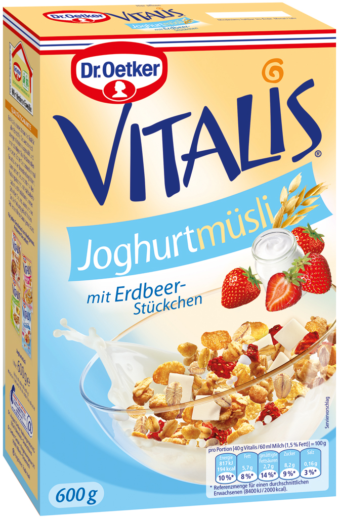 Vitalis Yogurt Muesli With Strawberry Pieces