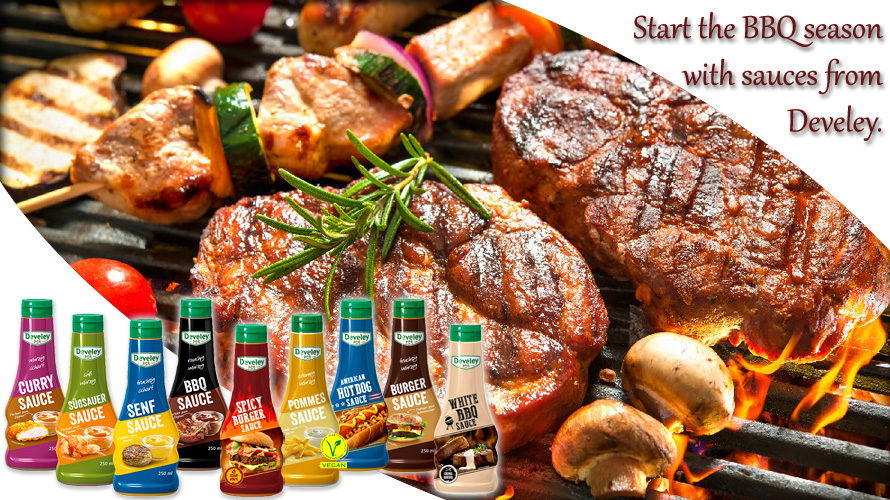 Start into the BBQ season with sauces from Develey.