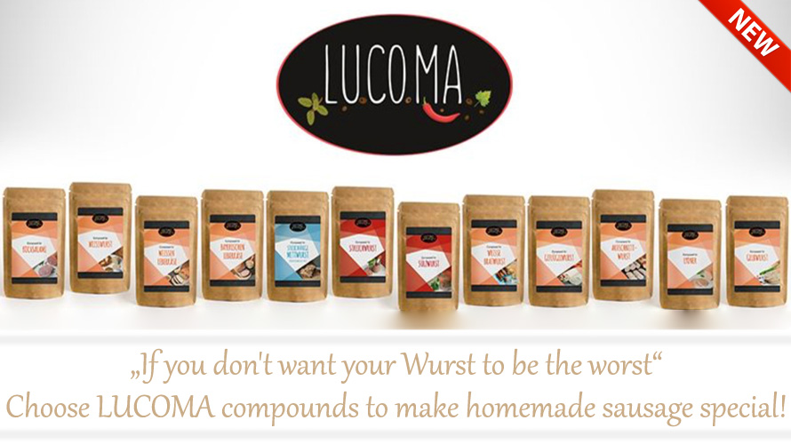 If you don't want your Wurst to be the worst - choose LUCOMA compounds to make homemade sausage special!