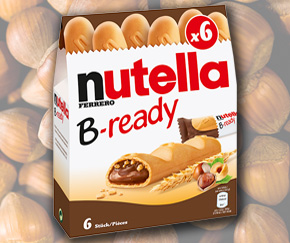 Nutella B-ready - always ready to hand.