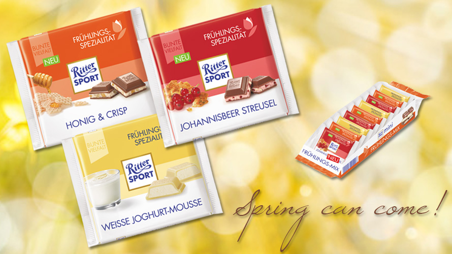 Spring tastes even better with the spring varieties by Ritter Sport