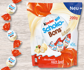 Kinder Schoko-Bons White - Now available but only for a short time!