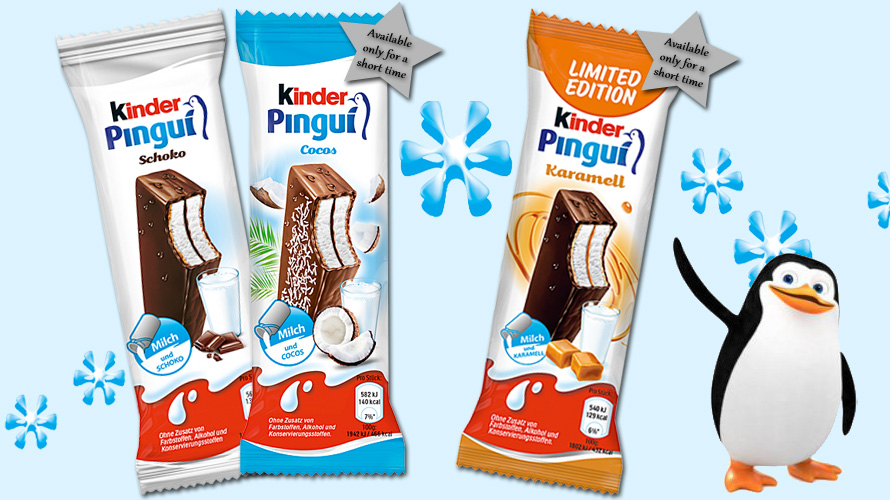 Two new varieties of Kinder Pingui are available now, but only for a short time.