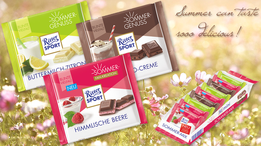 Summer can taste so delicious with the summer varieties from Ritter Sport.