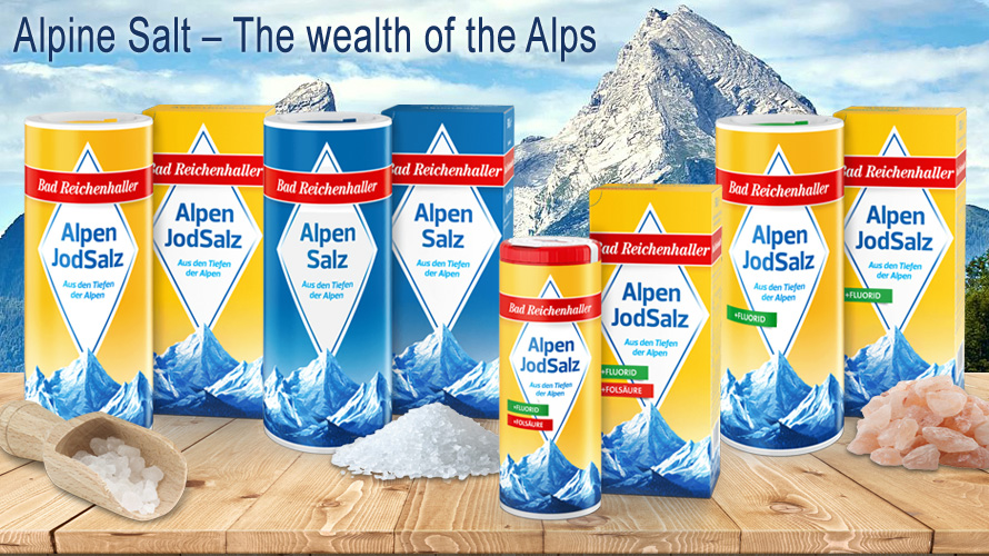 Bad Reichenhaller alpine salt is the wealth of the Alps and for generations an all-rounder in almost every German kitchen.