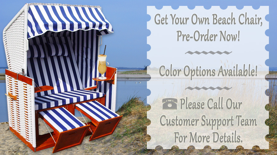 Pre-order your own beach chair – We will deliver in person.