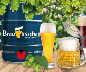 Brew your own beer at home – with the beer brewing kit by Braufaesschen.