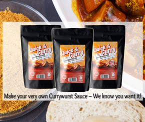 Make your very own Currywurst Sauce at home. We know you want it!