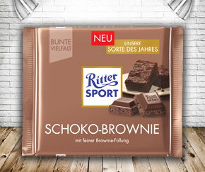 Ritter Sport Chocolate Brownie - Variety of the Year 2017