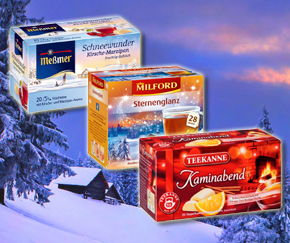 Enjoy our Winter teas by Teekanne, Messmer and Milford
