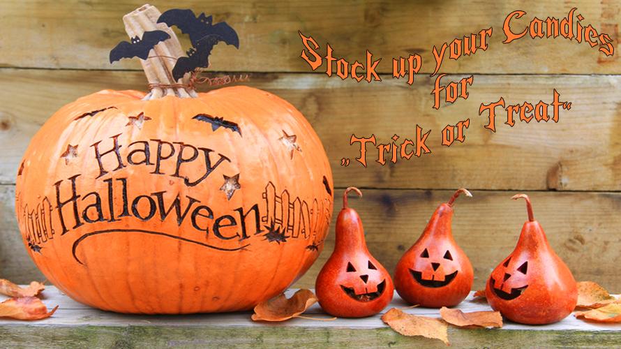 Stock up your Halloween goodies.