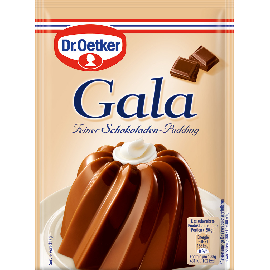 Dr Oetker Gala Pudding -Chocolate - 3 pack