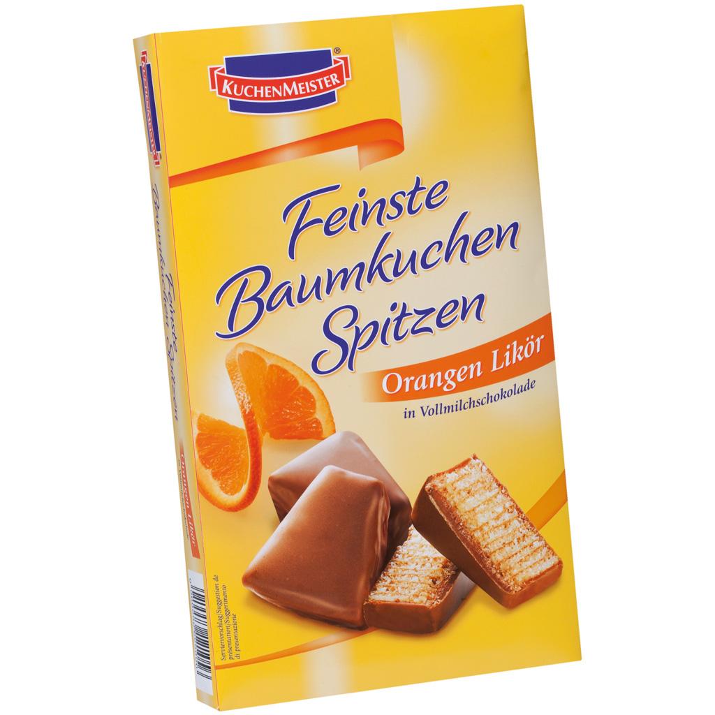 Orange filled Baumkuchen Spitze