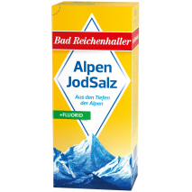 Bad Reichenhaller Iodized Alpine Salt + Fluoride 17.6 oz Refill Package