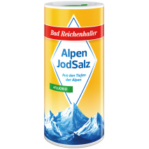 Bad Reichenhaller Iodized Alpine Salt + Fluoride 17.6 oz Dispensing Canister
