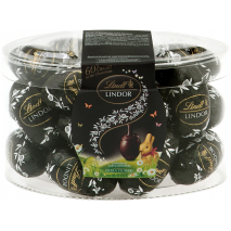 Lindt Lindor Bittersweet Chocolate Eggs with 60% Cocoa Tub