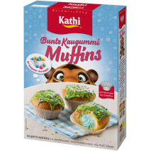 Kathi Colorful Bubblegum Muffins