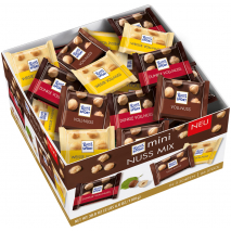 Ritter Sport Mini Chocolate Mix With Whole Hazelnuts, 66 Pcs, Counter Display