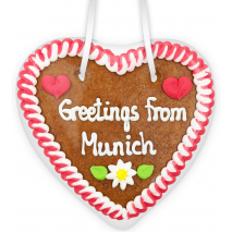"""Gingerbread Heart Small """"Greetings from Munich"""""""