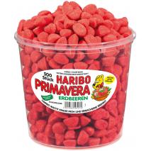 Haribo Primavera Strawberries, 500 Pcs, Tub