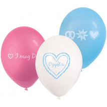 6 Latex Balloons Oktoberfest 22.8 cm / 9 inches