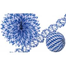 3-Piece Paper Decoration Kit Bavaria 25 cm / 50 cm / 400 x 12 cm