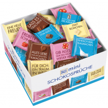 Ritter Sport Mini Chocolate Messages, Counter Display with 84 Minis