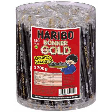 Haribo Bonner Gold Licorice Sticks Tub
