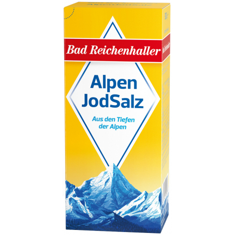 Bad Reichenhaller Iodized Alpine Salt 17.6 oz Refill Package