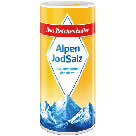 Bad Reichenhaller Iodized Alpine Salt 17.6 oz Dispensing Canister