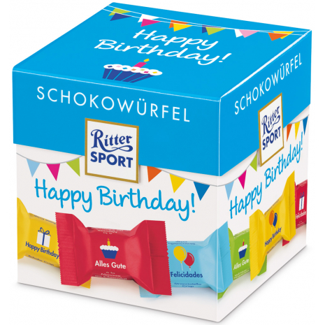 "Ritter Sport Chocolate Cubes ""Happy Birthday"""