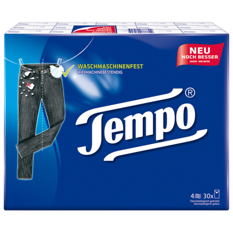 Tempo Original Pocket Tissues 30-Pack