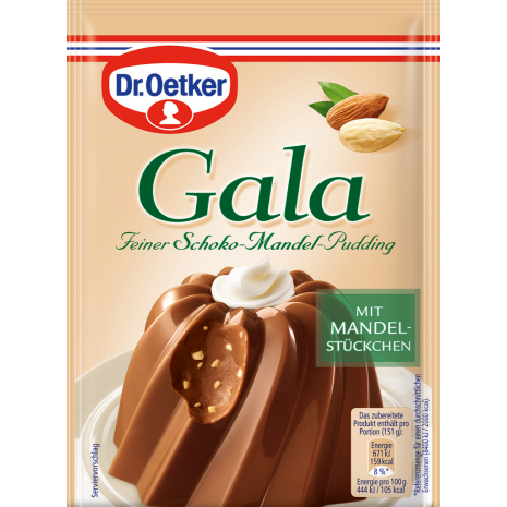 Dr. Oetker Gala Chocolate-Almond Pudding 2-Pack