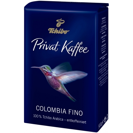 Tchibo Privat Kaffee Colombia Fino Decaffeinated Whole Beans 17.6 oz
