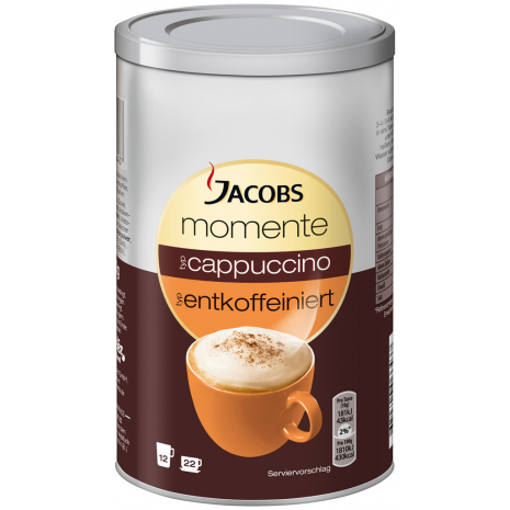 Jacobs Moments Cappuccino Decaffeinated 7.76 oz Can