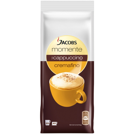 Jacobs Moments Cappuccino Cremafino 14.1 oz Refill Bag