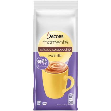 Jacobs Moments Choco Cappuccino Vanilla Flavor 17.6 oz Refill Bag