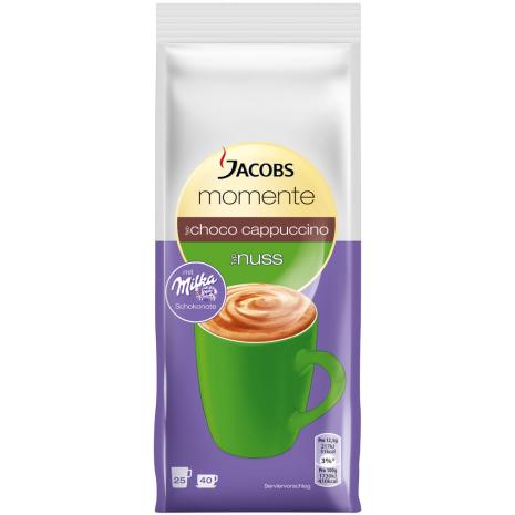 Jacobs Moments Choco Cappuccino Hazelnut Flavor 17.6 oz Refill Bag