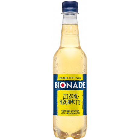 Bionade Lemon-Bergamot 0.5L PET Bottle