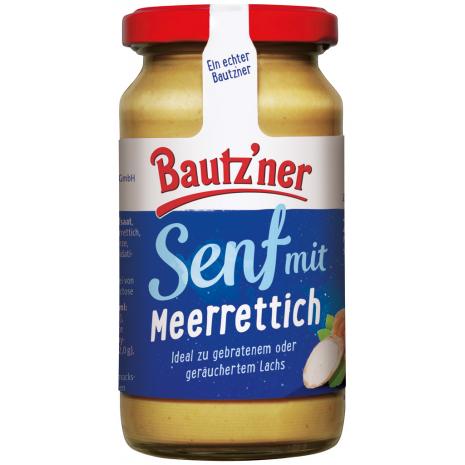 Bautzner Horseradish Mustard 6.76 fl.oz Jar