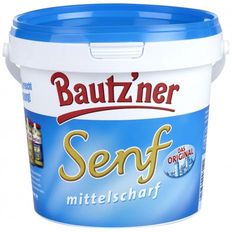 Bautzner Medium Hot Mustard 33.8 fl.oz Bucket