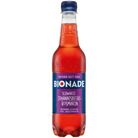 Bionade Black Currant-Rosemary 0.5L PET Bottle