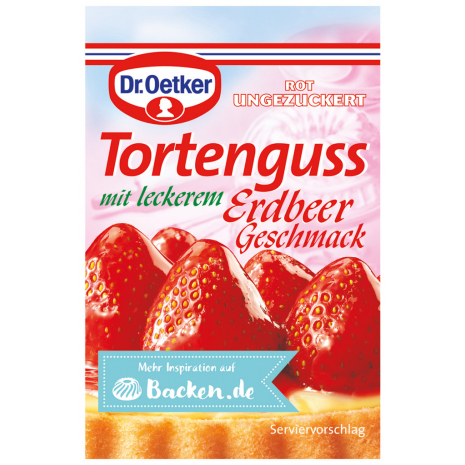 Dr. Oetker Unsweetened Red Cake Glaze With Strawberry Flavor 3-Pack