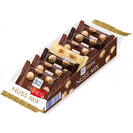 Ritter Sport Mini Chocolate Mix With Whole Hazelnuts