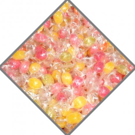 Rioba Hard Fruit Flavored Mini Candies Close-Up
